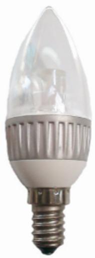Εικόνα από Λάμπα LED Κερί διάφανο 1Χ3W 6400K