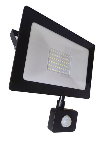 Προβολέας LED 50W with sensor SMD 6400K Slim-100017