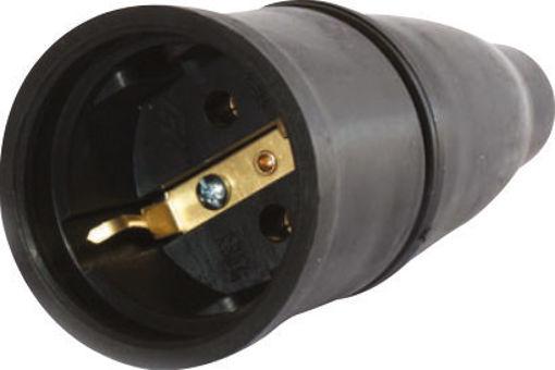 Φις σούκο θηλυκό 16Α καουτσούκ μαύρο-803801