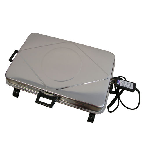 Ηλεκτρική ψηστιέρα ανοξείδωτη με διπλή σχάρα  και σπαστές χειρολαβές-807011