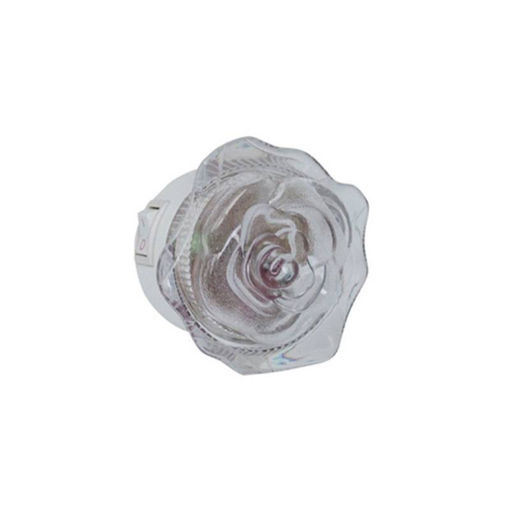 """Φως νυκτός LED """"τριαντάφυλλο"""" ΜΠΛΕ-110017"""