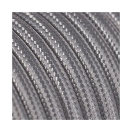 Διακοσμητικό υφασμάτινο καλώδιο Ασημί-701043