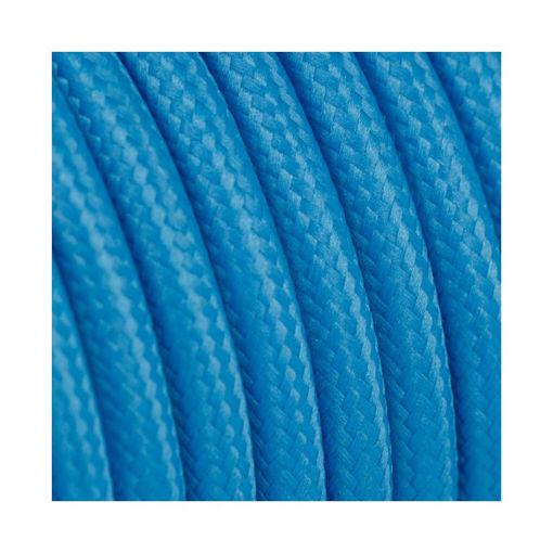 Διακοσμητικό υφασμάτινο καλώδιο  Μπλε πάγου-701051