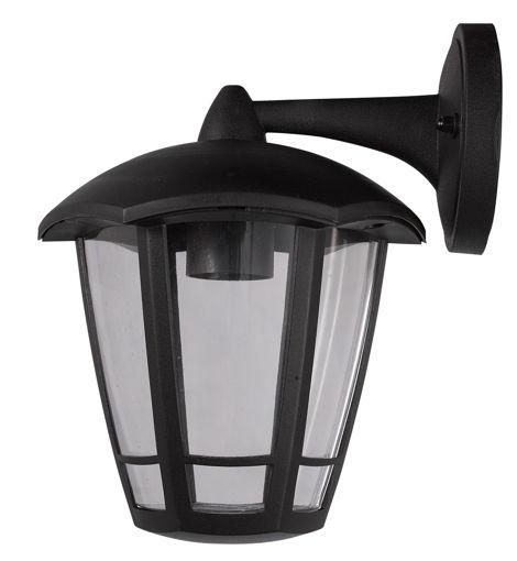 Φανάρι πλαστικό DOWN E27 IP44 Μαύρο-105701