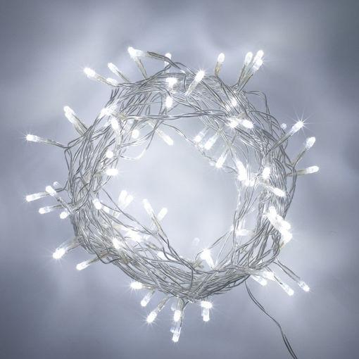 Λαμπάκια LED 100L 12m M/F διάφανο καλώδιο ΛΕΥΚΟ-840384