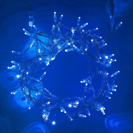 Picture of Λαμπάκια LED 100L 7m διάφανο καλ. + επέκταση (max3) Μπλε IP20