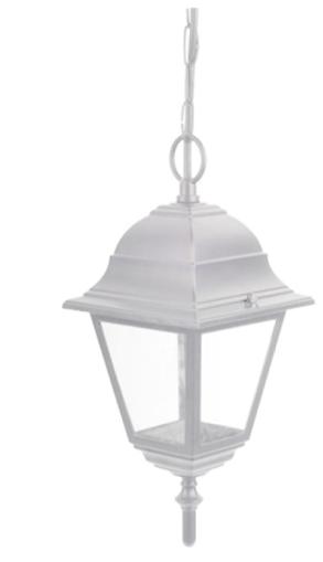 Picture of Κρεμαστό φωτιστικό αλουμ. τετράγωνο E27 ΙP44 Λευκό