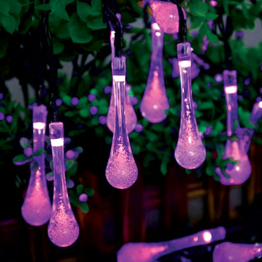Διακοσμητικά Φωτάκια LED Σταγόνα 20L 4,4m Μωβ-840046