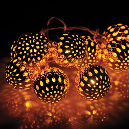 Διακοσμητικά Φωτάκια Μπάλες Χάλκινες LED 10L 2,8m Θερμο Φως-840090