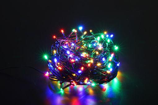 Λαμπάκια LED 200L 16m με πρόγραμμα & δυνατότητα εναλλαγής από Θερμό σε Multi  (πράσινο καλ.) 31V IP44-841001