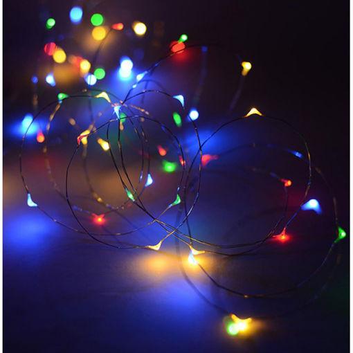 Λαμπάκια LED με ασημί σύρμα 100L με τροφοδοτικό & controller Multi-841018