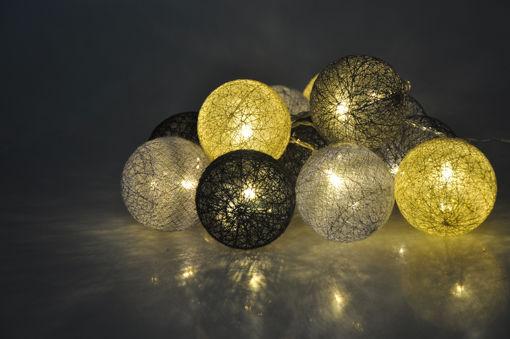 Υφασμάτινες μπάλες (cotton balls) LED Starlight 20L Θερμό-841020