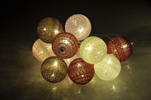 Υφασμάτινες μπάλες (cotton balls) LED Romance 20L Θερμό-841023