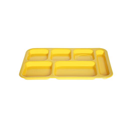 Δίσκος 6 θέσεων 36x25cm Κίτρινος-409315