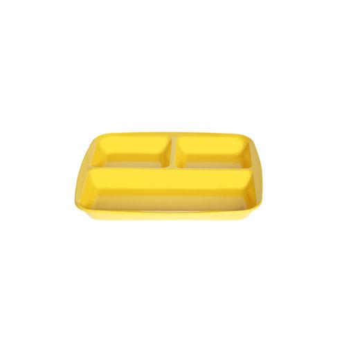 Δίσκος 3 θέσεων 26,5x24,5cm Κίτρινο-409314