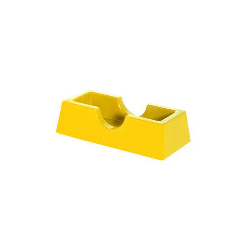 Θήκη οδοντογλυφίδων Κίτρινη-409306