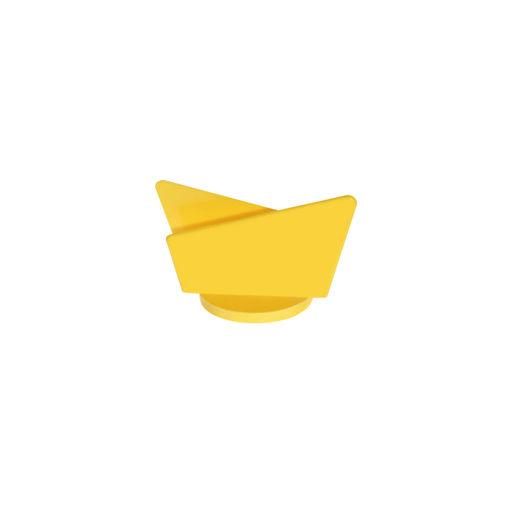 Θήκη για χαρτοπετσέτες Κίτρινη-409305