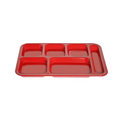 Δίσκος 6 θέσεων 36x25cm Κόκκινος-409215