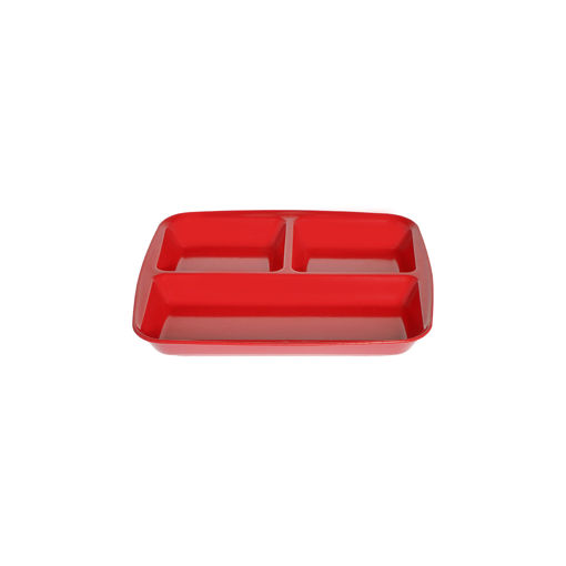 Δίσκος 3 θέσεων 26,5x24,5cm Κόκκινος-409214