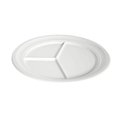 Πιάτο 3 θέσεων Φ24cm Λευκό-409116