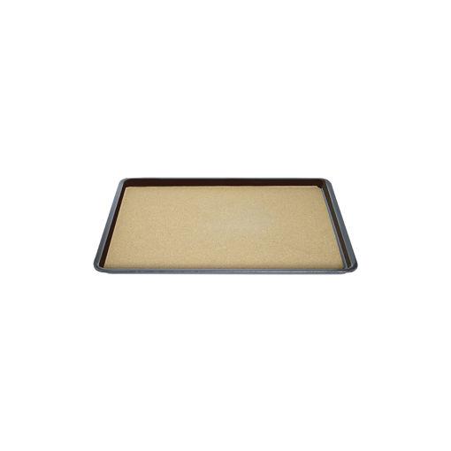 Δίσκος παρ/μος αντιολισθητικός με φελό 27,5x20cm Καφέ-407907