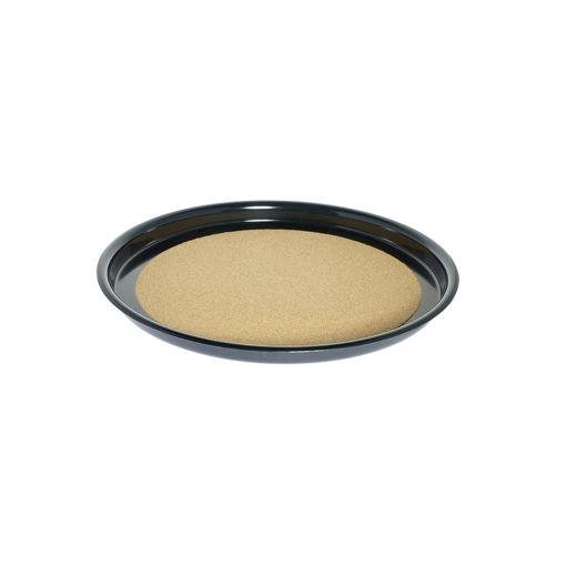 Δίσκος στρογγυλός αντιολισθητικός με φελό Φ35cm Μαύρος-407817