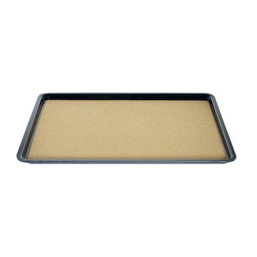 Δίσκος παρ/μος αντιολισθητικός με φελό 40,5x29,5cm Μαύρος-407809