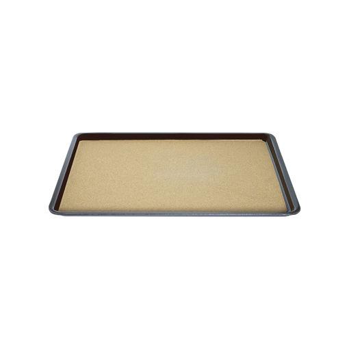 Δίσκος παρ/μος αντιολισθητικός με φελό 23,5x24,5cm Μαύρος-407808