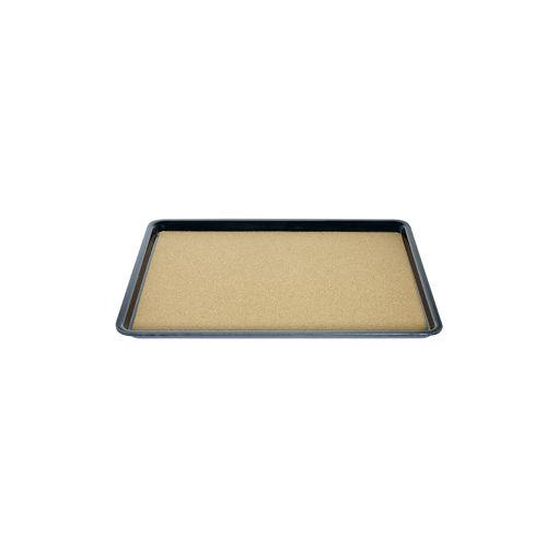 Δίσκος παρ/μος αντιολισθητικός με φελό 27,5x20cm Μαύρος-407807