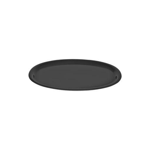 Δίσκος Οβάλ 29,5x21cm Μαύρος-407401