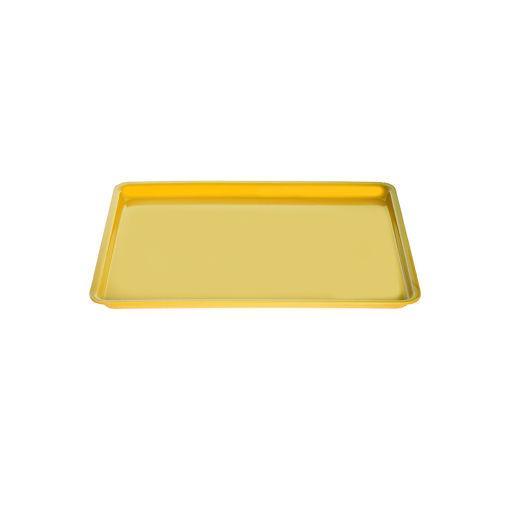 Δίσκος παρ/μος 27,5x20cm Κίτρινος-407302