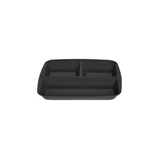 Δίσκος 3 θέσεων 26,5x24,5cm Μαύρο-409414
