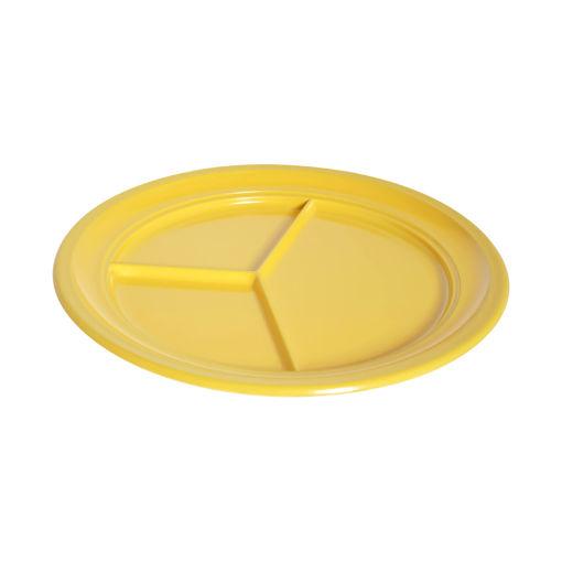 Πιάτο 3 θέσεων Φ24cm Κίτρινο-409316