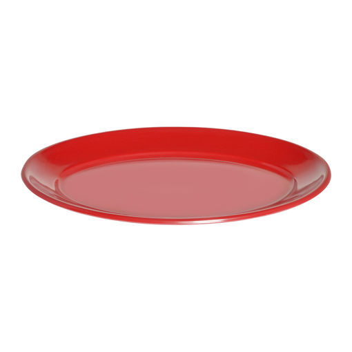 Πιατέλα Γ' Νο 68 40x26cm Κόκκινο-402207
