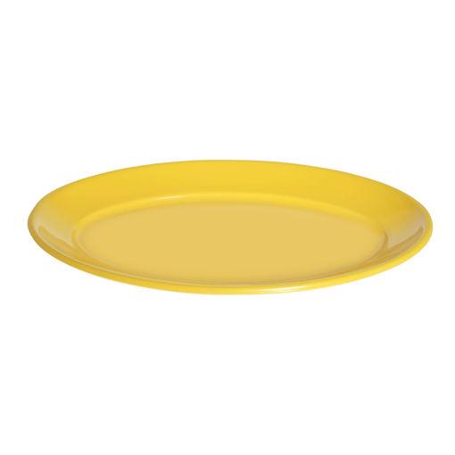 Πιατέλα Γ' Νο 68 40x26cm Κίτρινο-402307